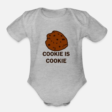 Cookie Cookie is Cookie - Organic Short-Sleeved Baby Bodysuit