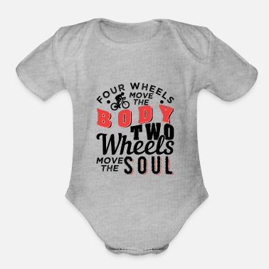 Awesome Two Two Wheels Move The Soul Cycling - Organic Short-Sleeved Baby Bodysuit