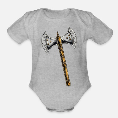 Medieval medieval axe - Organic Short Sleeve Baby Bodysuit
