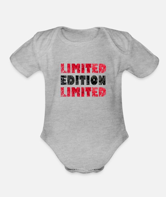 Fire Department Baby One Pieces - Limited Edition - Organic Short-Sleeved Baby Bodysuit heather gray