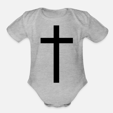 Cross cross - Organic Short-Sleeved Baby Bodysuit