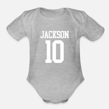 Jersey Number Jackson Jersey Number - Organic Short-Sleeved Baby Bodysuit