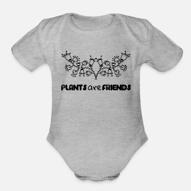Plant Grounds Plants - Organic Short Sleeve Baby Bodysuit