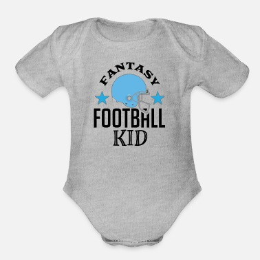 Sports Fantasy Football Kid Sports - Organic Short Sleeve Baby Bodysuit