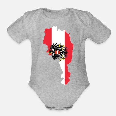 Coat Of Arms Austria Flag Map - Organic Short-Sleeved Baby Bodysuit