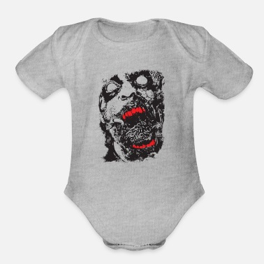Scifi Zombie - Geek - Horror - Scifi - Organic Short-Sleeved Baby Bodysuit