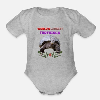 Largest World,s largest tortoises - Organic Short-Sleeved Baby Bodysuit