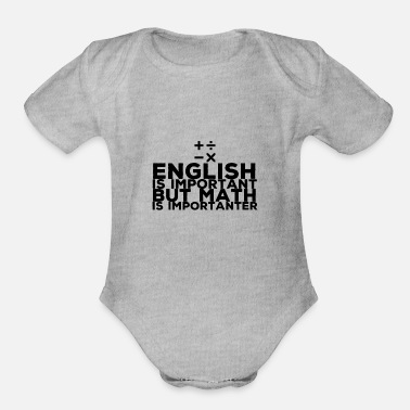 Mathematics Mathematics - Organic Short Sleeve Baby Bodysuit