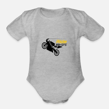 Gps Ride with GPS - Organic Short-Sleeved Baby Bodysuit