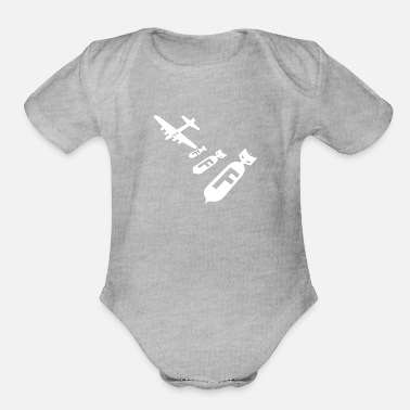 Bomb Droppin F Bombs - Organic Short-Sleeved Baby Bodysuit