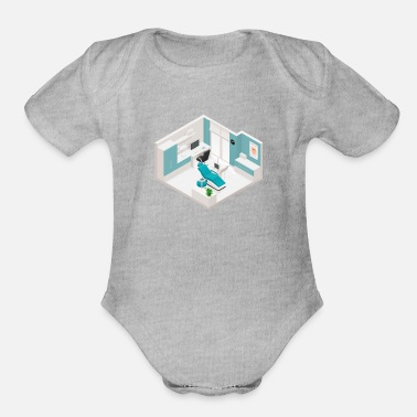 Clinic Dentistry Clinic - Organic Short-Sleeved Baby Bodysuit