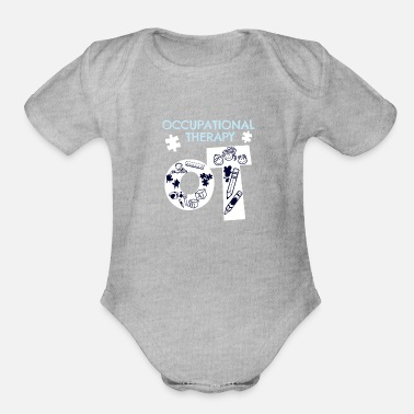 Occupation Awesome Occupational Therapist Print Occupational - Organic Short-Sleeved Baby Bodysuit