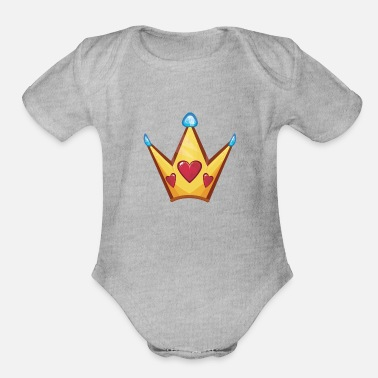Crown Princess Crown - Organic Short-Sleeved Baby Bodysuit