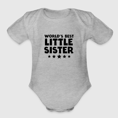 World's Best Little Sister - Organic Short Sleeve Baby Bodysuit