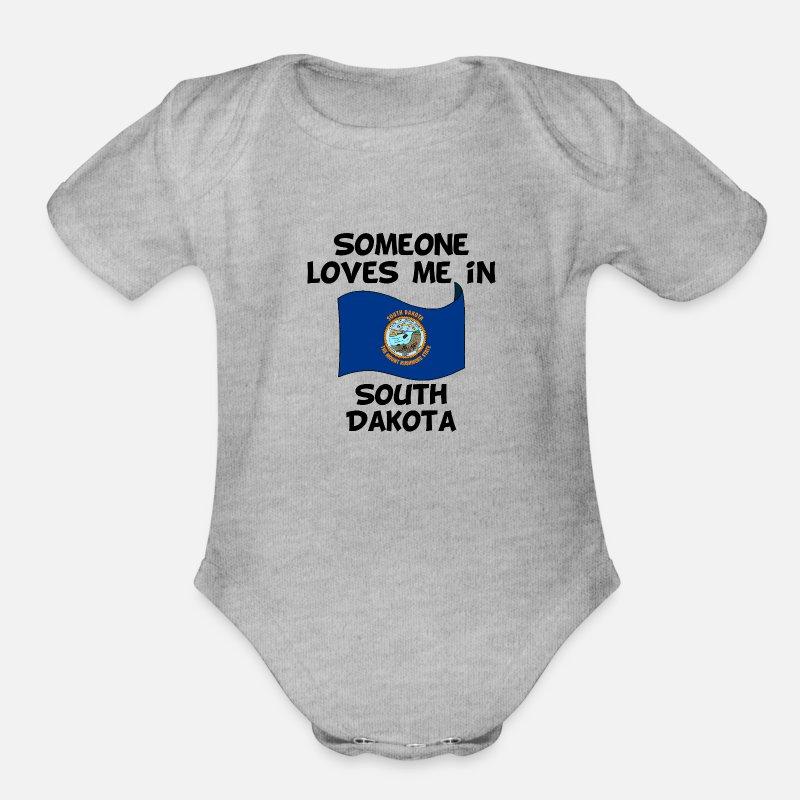 My Grandma in South Dakota Loves Me Toddler//Kids Short Sleeve T-Shirt