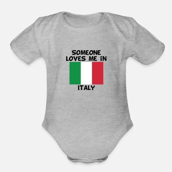Just A Little Italian Onesie Funny Italy Flag Heart Baby Bodysuit
