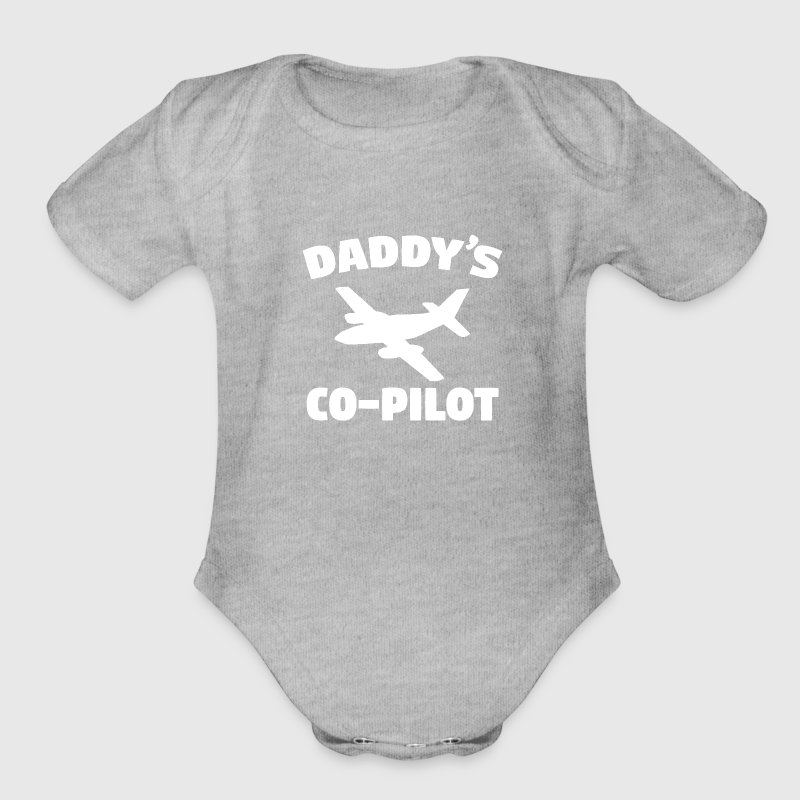 Daddy's Co-Pilot - Organic Short Sleeve Baby Bodysuit