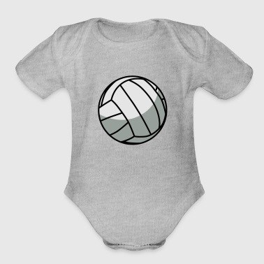 Volleyball Vector - Organic Short Sleeve Baby Bodysuit