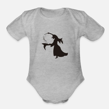 Perform Magic witch performing magic - Organic Short-Sleeved Baby Bodysuit