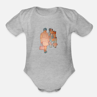 Yard The thousand yard stare - Organic Short-Sleeved Baby Bodysuit