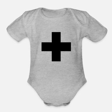 Plus Plus - Organic Short-Sleeved Baby Bodysuit