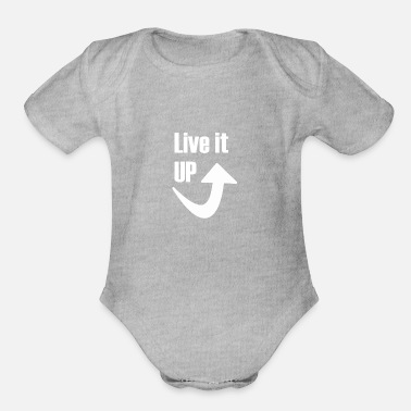Live it up cool fun - Organic Short-Sleeved Baby Bodysuit