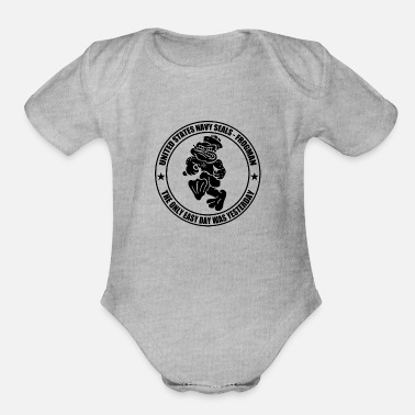 Navy Navy SEAL Green Frogman the only easy - Organic Short-Sleeved Baby Bodysuit