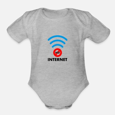 Internet no internet - Organic Short Sleeve Baby Bodysuit