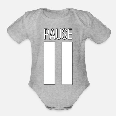 Pause PAUSE - Organic Short-Sleeved Baby Bodysuit