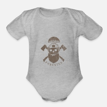 Forest Forester - Organic Short-Sleeved Baby Bodysuit