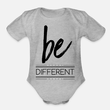 Different be different - Organic Short Sleeve Baby Bodysuit