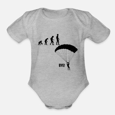 Skydiving Skydiving - Organic Short-Sleeved Baby Bodysuit