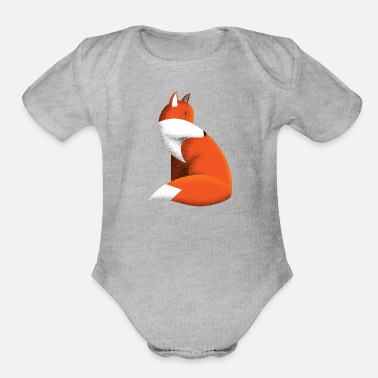 Little Fox - Organic Short-Sleeved Baby Bodysuit