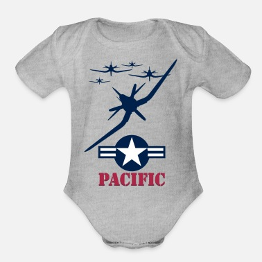 Pacific pacific - Organic Short-Sleeved Baby Bodysuit