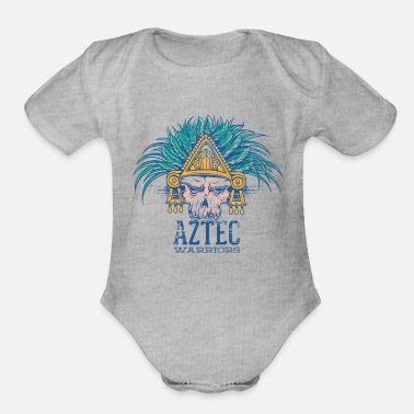 Aztec Warriors Aztec Warriors Skull - Organic Short-Sleeved Baby Bodysuit