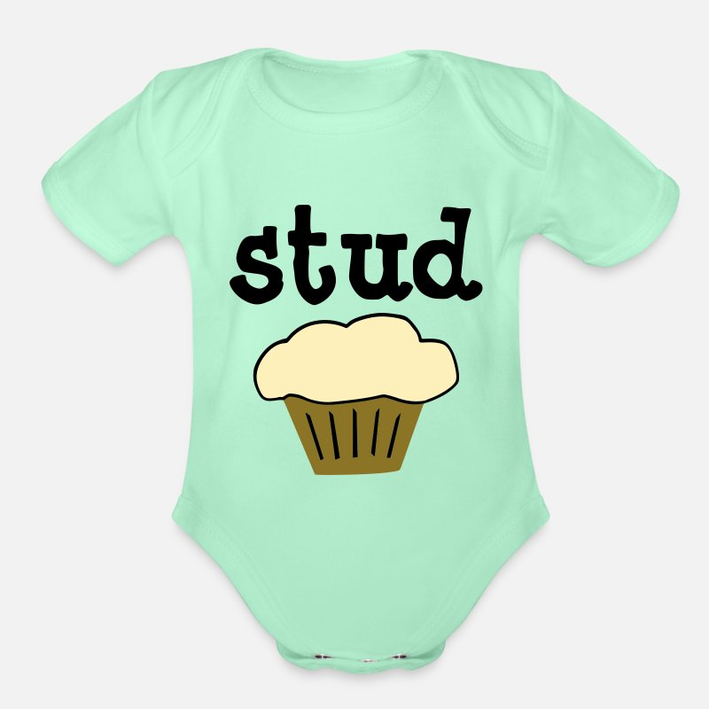 Funny Infant Bodysuit I/'m Just A Cupcake Looking For My Stud Muffin