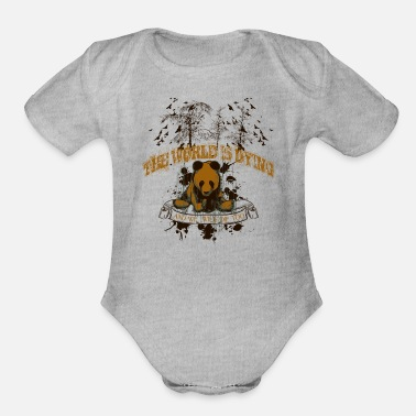 Dying The world is dying - Organic Short-Sleeved Baby Bodysuit