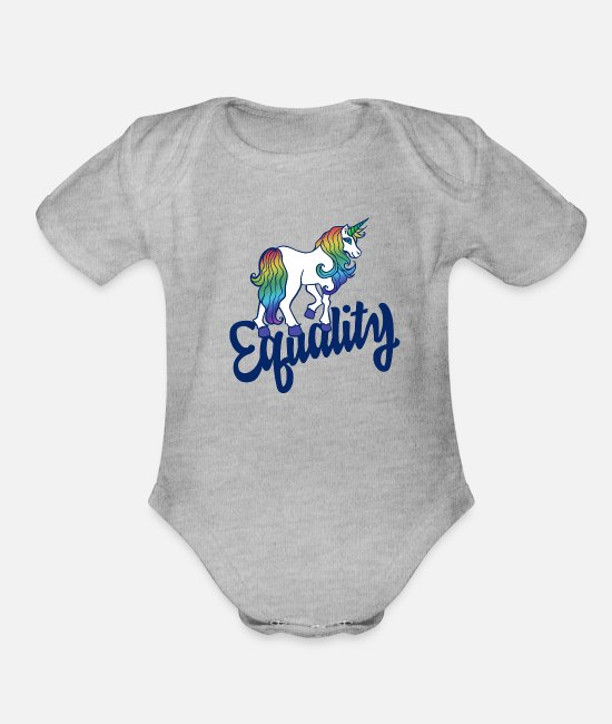Rainbow Baby Clothing - Equality - Organic Short-Sleeved Baby Bodysuit heather gray