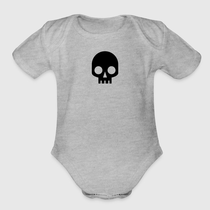 COOL SQUARE SKULL SHAPE PIRATE - Organic Short Sleeve Baby Bodysuit