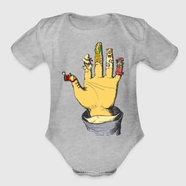 Finger dolls - Organic Short Sleeve Baby Bodysuit