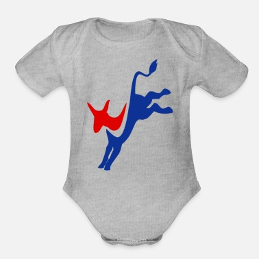 Democratic Democrat - Organic Short-Sleeved Baby Bodysuit