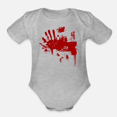 Bloody Bloody Guns - Organic Short-Sleeved Baby Bodysuit