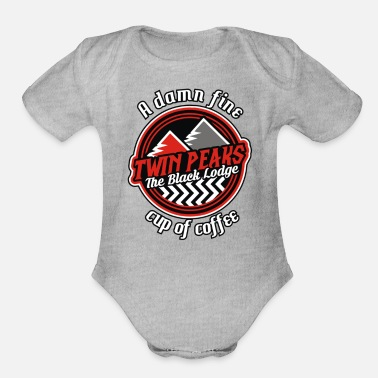Lodge The Black Lodge - Organic Short-Sleeved Baby Bodysuit