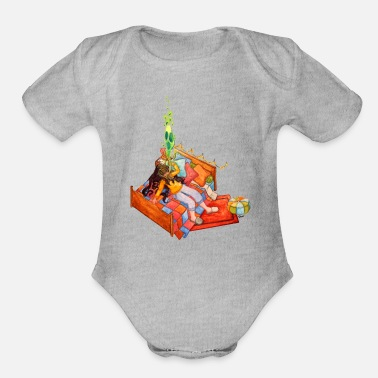 Tiredness Tiredness - I can't wait for the vacation ! - Organic Short-Sleeved Baby Bodysuit
