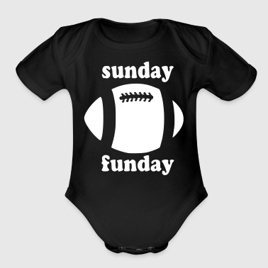 Sunday Funday - Organic Short Sleeve Baby Bodysuit