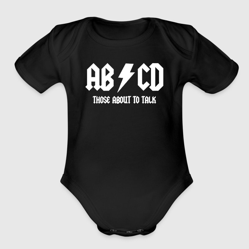 abcd - Short Sleeve Baby Bodysuit