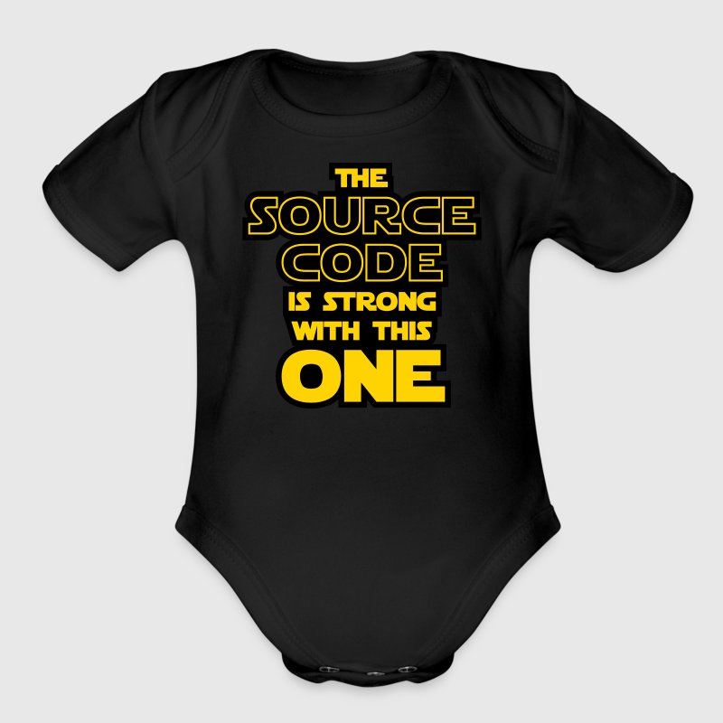 THE SOURCE CODE IS STRONG WITH THIS ONE - Organic Short Sleeve Baby Bodysuit