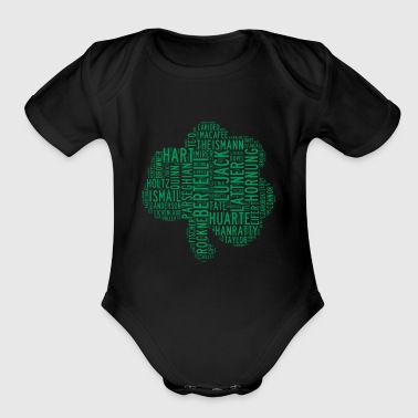 All Time Notre Dame Shamrock Football Greats Baby' - Organic Short Sleeve Baby Bodysuit