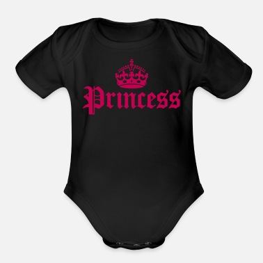 Princess - Organic Short Sleeve Baby Bodysuit