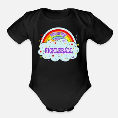 Pickleball Humor Pickleball - Organic Short-Sleeved Baby Bodysuit